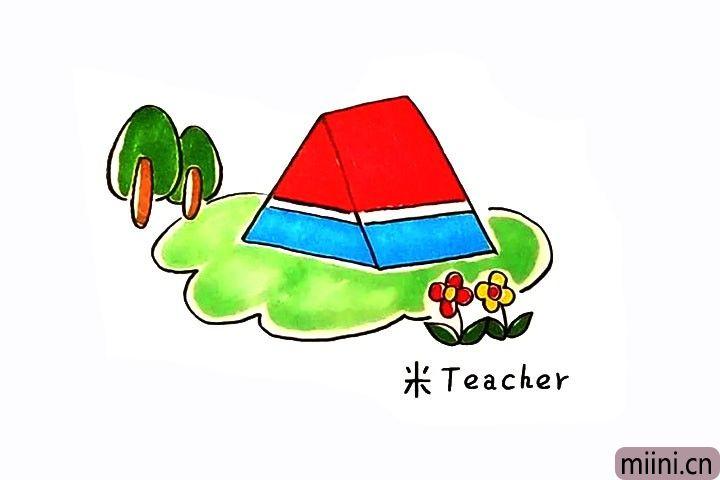 帐篷简笔画步骤图