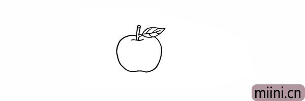 3.接着画出果实的轮廓.圆圆的注意线条的变化。