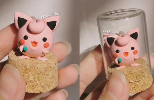 超轻粘土可爱的胖丁小玩偶制作教程