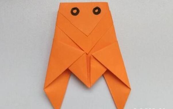 可爱的小知了折纸步骤教程