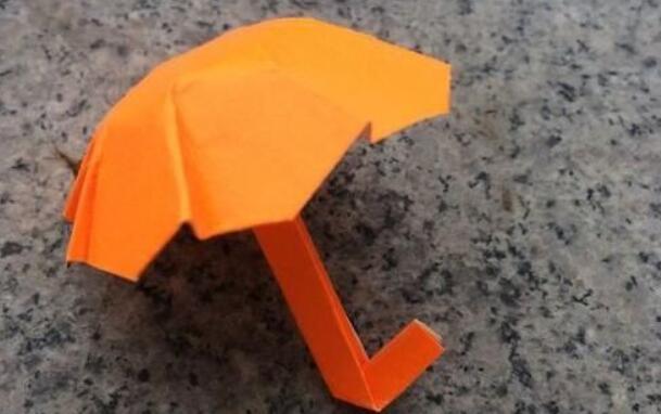 儿童手工小雨伞折纸教程