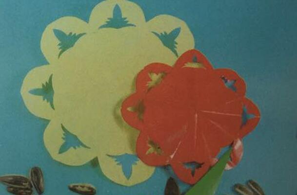 向日葵剪纸步骤图解