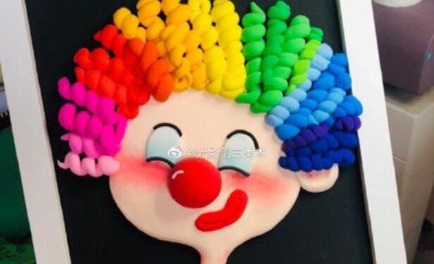 用粘土制作超可爱的小丑画步骤图解