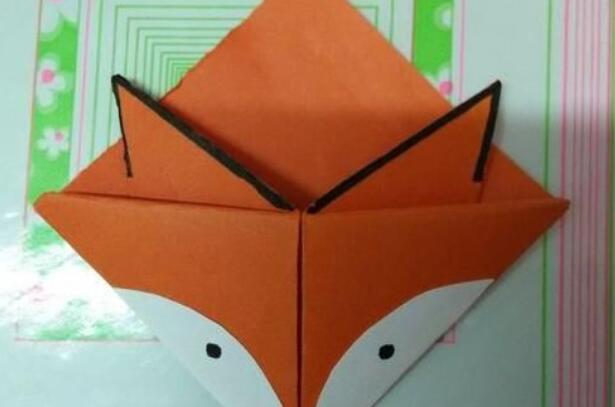 儿童折纸,折一个小狐狸书签步骤教程