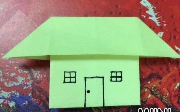 儿童手工小房子折纸教程