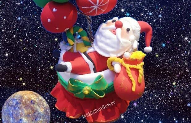 粘土圣诞老人和礼物的制作教程