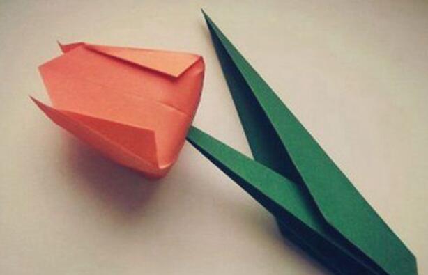 郁金香折纸花教程,送恋人真的好暖心