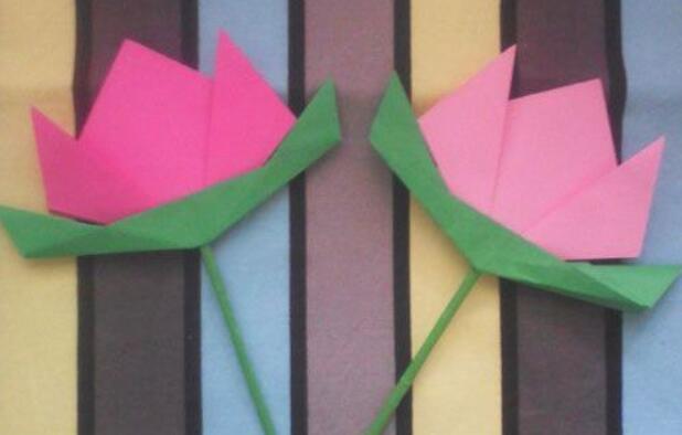 幼儿园最简单手工花朵,小班手工花朵折纸
