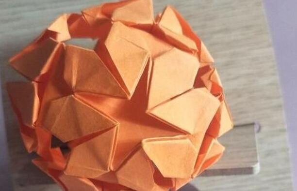 爱心花球折纸步骤教程