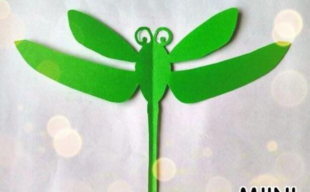 儿童手工蜻蜓剪纸步骤教程