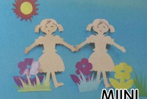 剪纸跳舞的小女孩图解