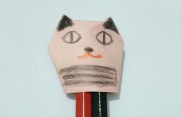儿童折纸,折小猫指套的步骤教程