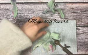 布艺烫花玫瑰,叶子和花瓣的烫制过程