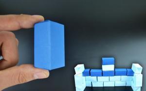 教你折纸出一个长方体,可以用来盖房子