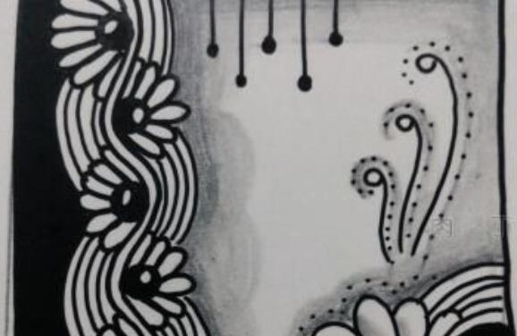 FloralWaves的禅绕画画法