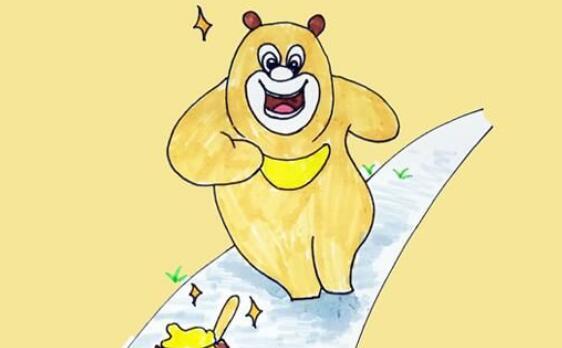 动画片熊出没,熊二人物简笔画教程