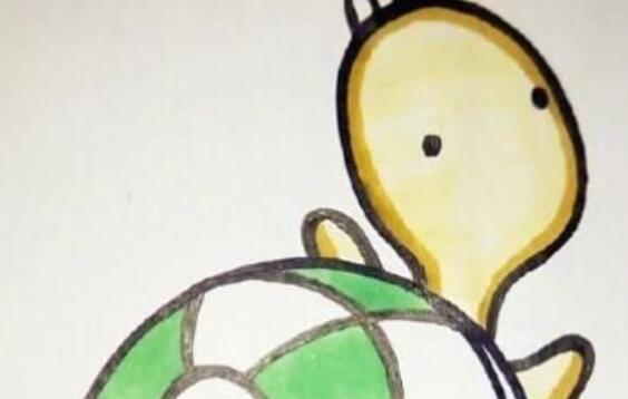 乌龟儿童简笔画步骤教程