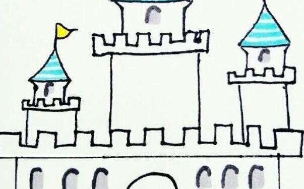简单的城堡简笔画步骤教程