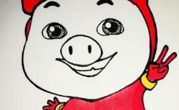 教你如何画,猪猪侠简笔画教程