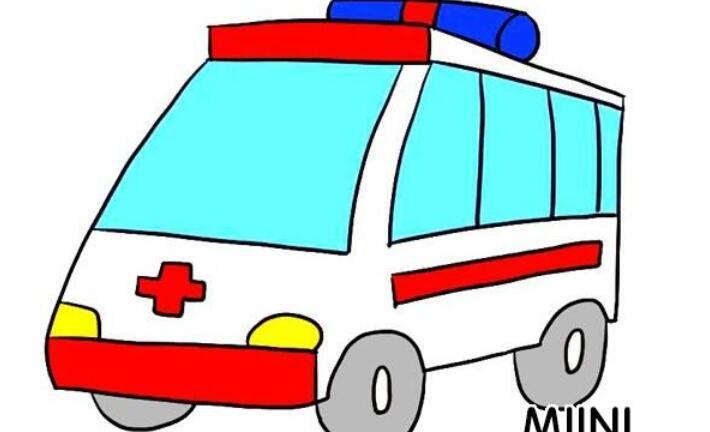卡通救护车的简笔画步骤教程