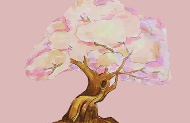 樱花树简笔画步骤图解