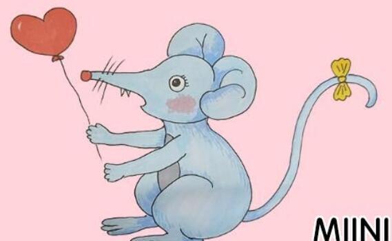 小老鼠简笔画步骤教程