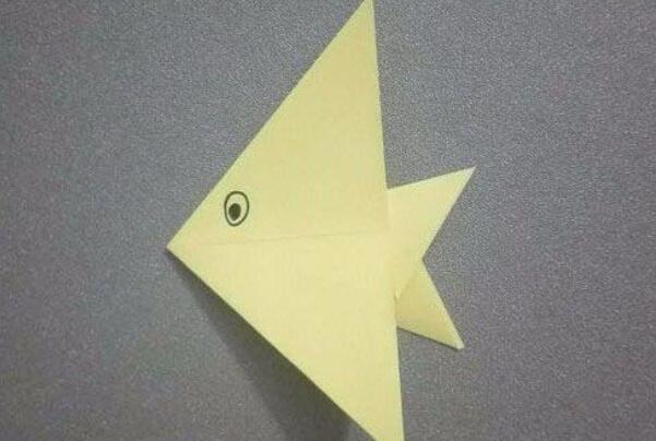 DIY儿童折纸,大头鱼的折法