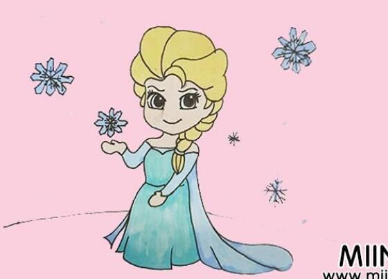 艾莎公主简笔画步骤图解