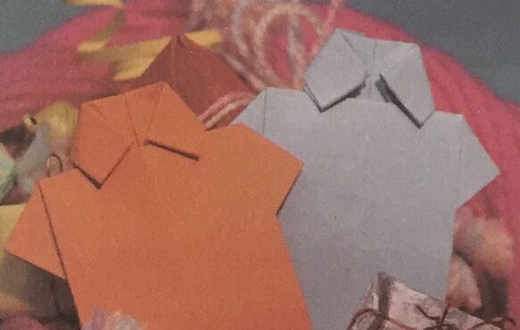 手工折纸衬衫的步骤教程