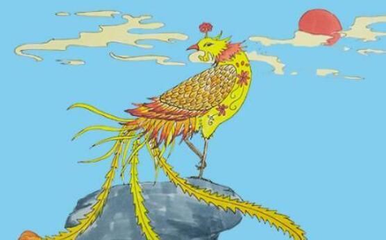 古代神鸟凤凰简笔画步骤教程