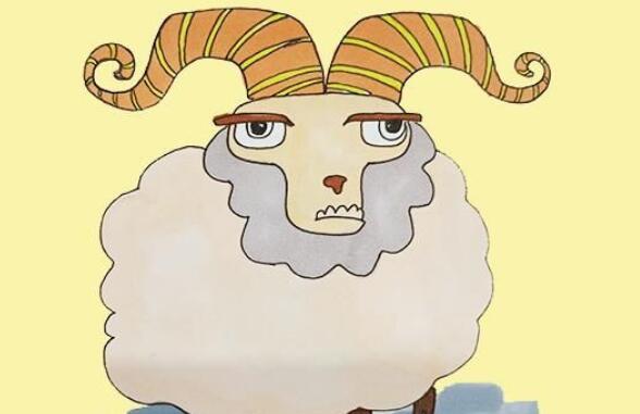 十二生肖羊的简笔画步骤教程