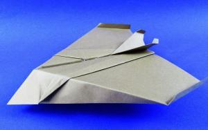 隐形飞机折纸视频教程