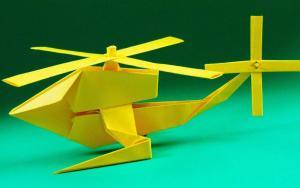 教你做最新版折纸直升飞机