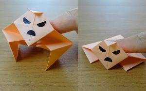 能做俯卧撑的折纸健身小人玩具