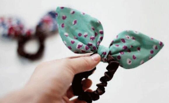 兔耳朵发圈布艺头饰的制作方法
