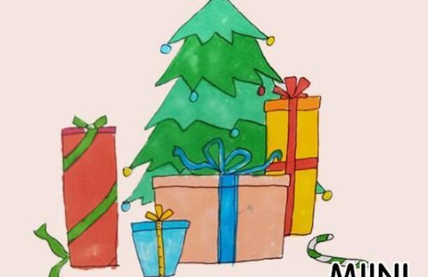 礼物盒简笔画步骤教程