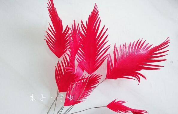 布艺手工,缎带仿羽毛详细步骤图解