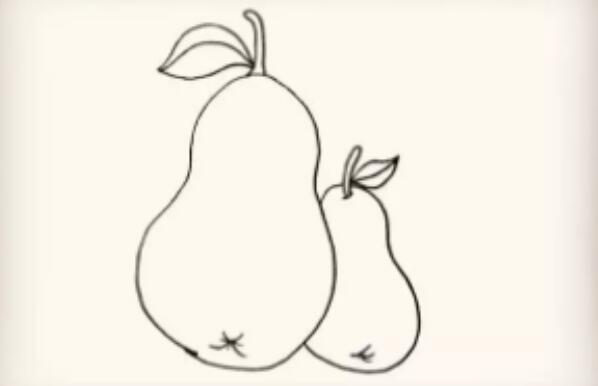 好吃的水果梨的简笔画