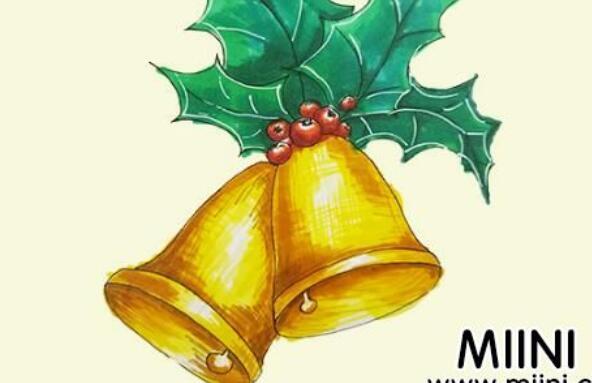 圣诞节铃铛简笔画步骤教程
