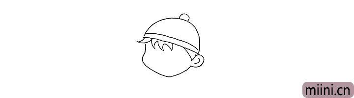 3.还有的脸颊和耳朵.仔细观察线条的变化。