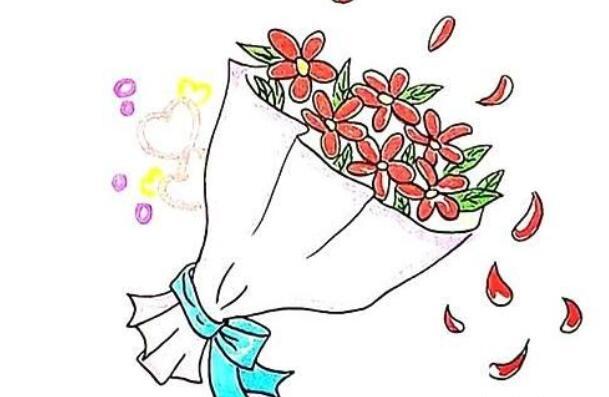 送女友一束花画法教程