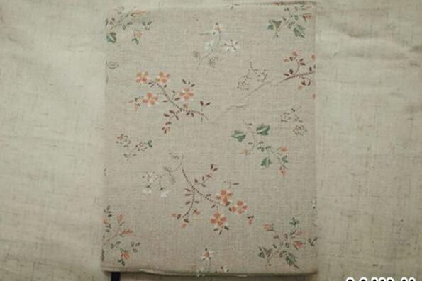 布艺手工,用布料制作一个书皮步骤教程