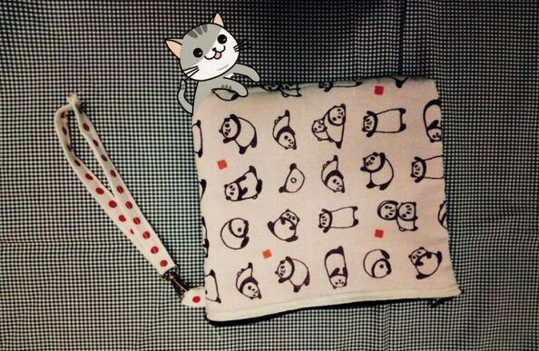 熊猫手机小包制作方法图解教程