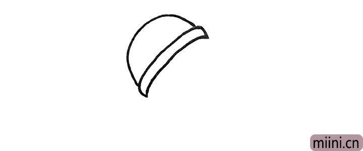 2.再画出中间的腰线部分。