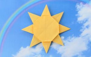 教你折纸太阳,让温暖的阳光赶走一切病毒