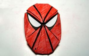 教你折纸蜘蛛侠面具书签,简单好看