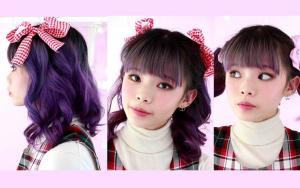 浪漫卷发,可爱的蝴蝶结发型教程