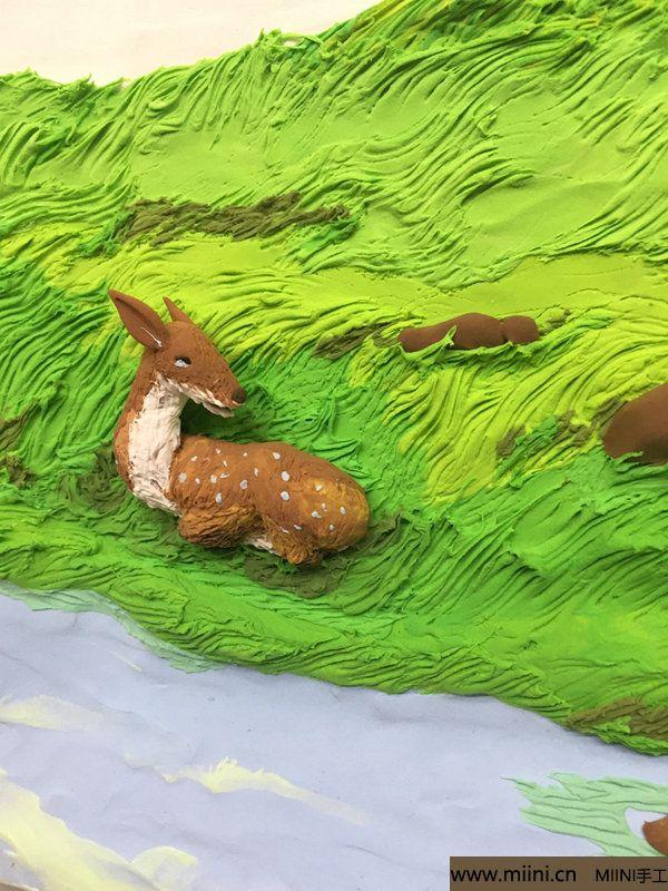 开心小鹿粘土画 第22步