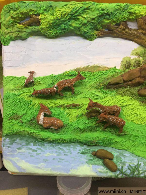 开心小鹿粘土画 第42步