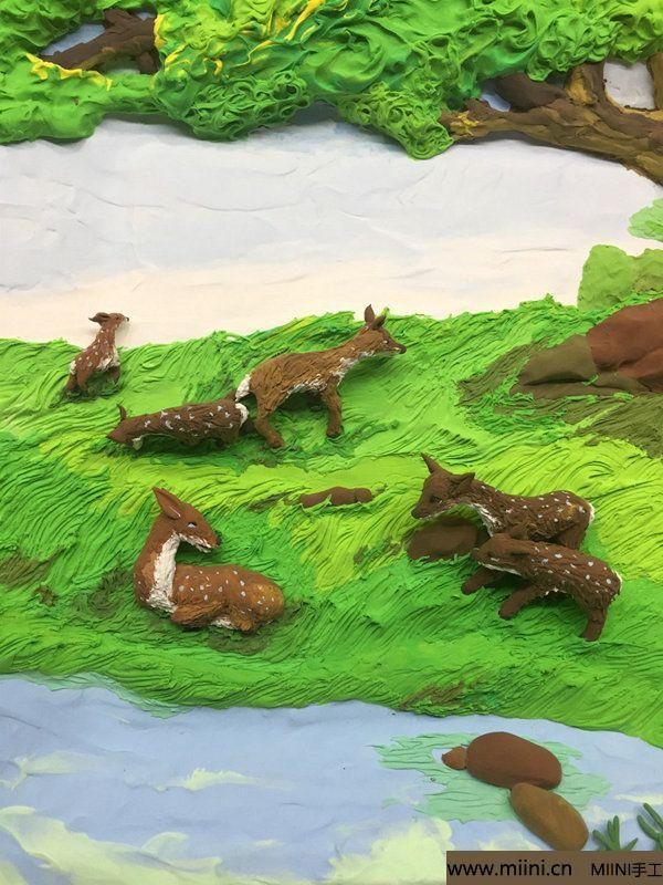 开心小鹿粘土画 第33步